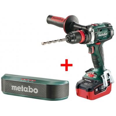 Metabo BS 18 LTX Quick LiHD aku vrtačka 18V 5,5Ah + bluetooth reproduktor