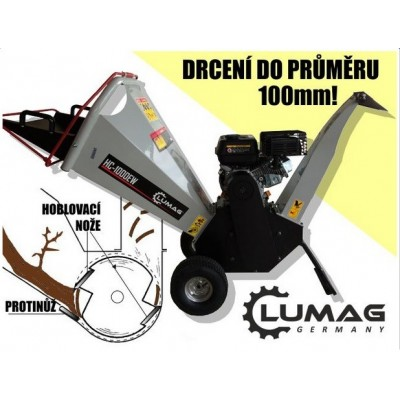LUMAG HC 1000EW drtič dřeva - štěpkovač