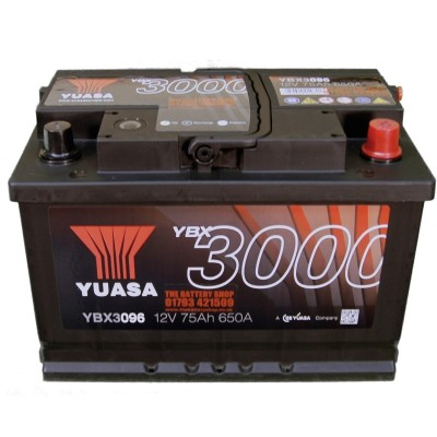 YUASA YBX3096 autobaterie 12V 75Ah