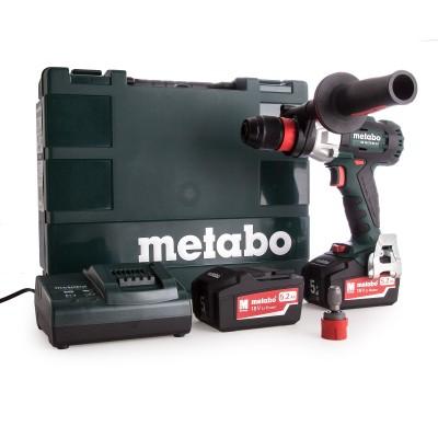 METABO SB 18 LTX BL Q I aku příklepová vrtačka 2x5,2Ah