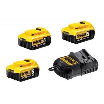 DeWALT DCB115P3 nabíječka 3x baterie XR Li-Ion 18V 5,0Ah
