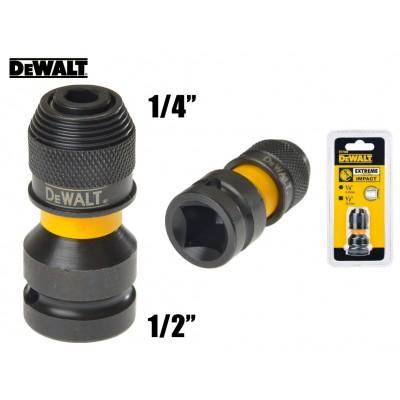 """DeWALT DT7508 adaptér ze čtyhranu 1/2"""" na šestihran 1/4"""""""