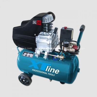 Olejový kompresor XTline 2HP 1,5KW 8bar 24L 2024AF, XT2002 + 3dilný set