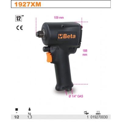 """BETA 1927XM kompaktní obousměrný rázový klíč 1/2"""""""