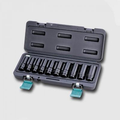 """HONITON H5-40010L sada prodloužených hlavic zesílených 1/2"""" 10ks 11-12-13-14-16-17-19-21-22-24mm"""