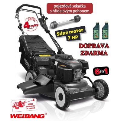 WEIBANG WB 507 SCV 6in1 s hřídelovým pohonem 2l oleje 10W-30 zdarma