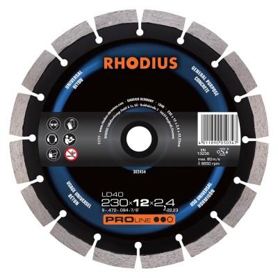 RHODIUS LD40 diamantový kotouč  230x10x2,4x22,23 mm