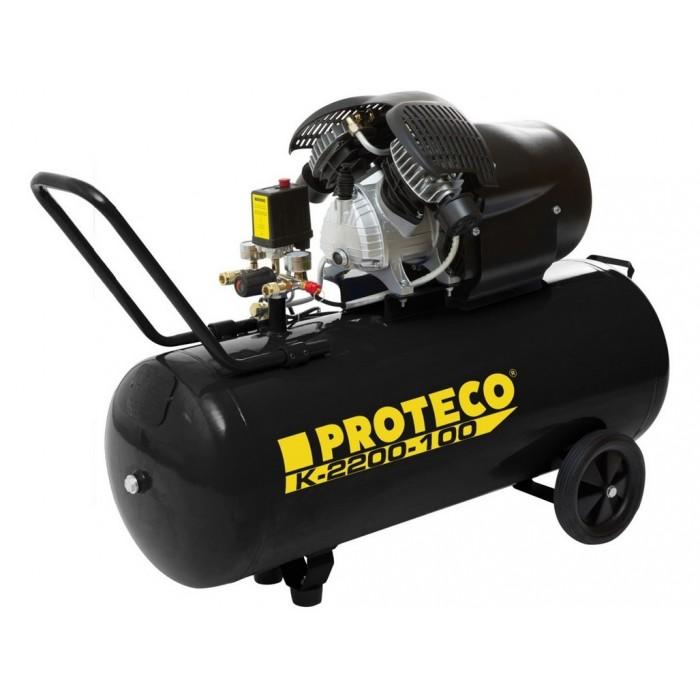 Olejový kompresor PROTECO K-2200-100 3,0HP 2,2KW 8bar 100L