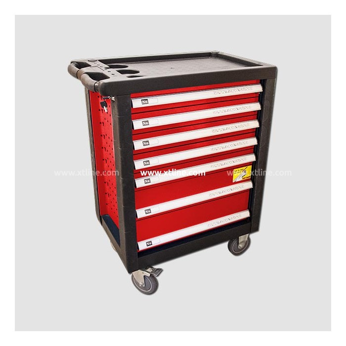 STAVTOOL montážní vozík vybavený 690x465x970mm 229dílů