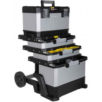 STANLEY FatMax 1-95-622 kovoplastový pojízdný box