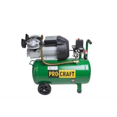Olejový kompresor Procraft AC50-2 3,0HP 2,2KW 8bar 50L